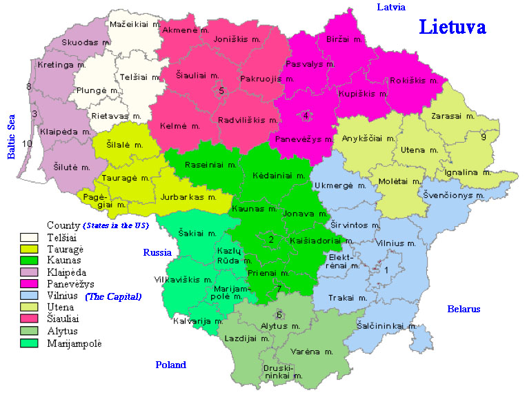 States Counties and Municipalities in Lithuania Maskoliunas